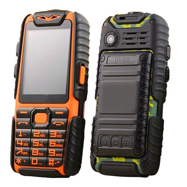 "top popular Guophone A6 Mobile Phone Daily Dustproof 9800mAh Dual Sim 2.4"" Flashlight Power Bank Long Standby CellPhone 2020"