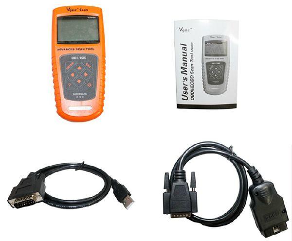 original Vgate VS600 newest Scan tool super scanner tool VS 600 Diagnose Code Reader Scanner obd2 obdii EOBD EMS