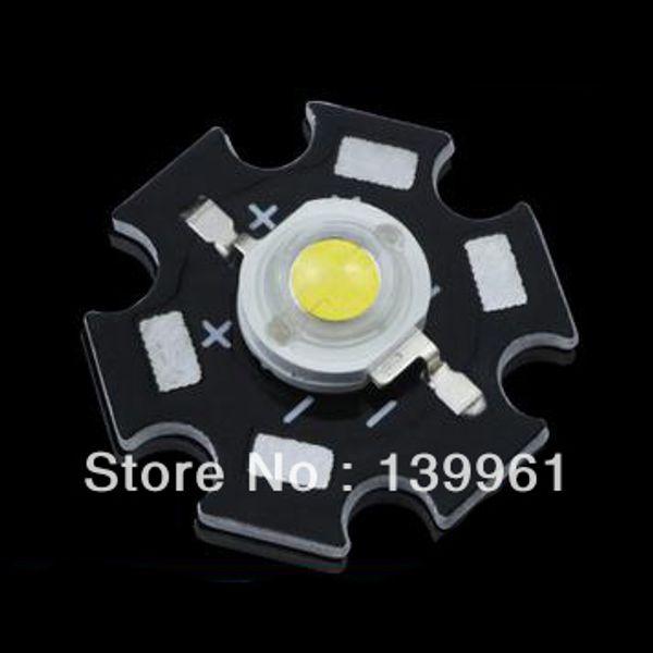 Venta al por mayor-10pcs 3W Cool White High Power LED emisor de cuentas DC3.2-3.4V 700mA 180-210LM 12000K en 20 mm de estrella del disipador de calor