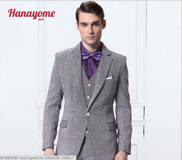 Classic Design Men's Dinner Party Prom Suits Groom Tuxedos Groomsmen Wedding Blazer Suits 3 piece (Jacket+Pants+Vest)123