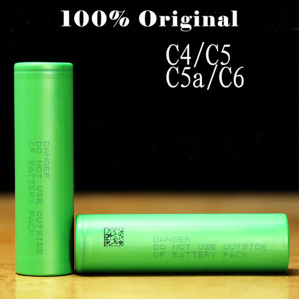 top popular 100% Authentic 18650 Battery VTC6 VTC5A VTC5 VTC4 3000mah 2600mah 2100mah 30A Rechargeable Batteries Using Original Cell Fedex Free Shipping 2021