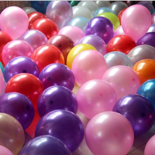 10 pulgadas de fiesta de látex globo redondo globo de la boda decoración globo fuentes del partido 100 unids / lote 12 colores