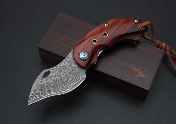 Exquisite Good quality Damascus - Male Eagle Folding Knife, Free shipping outdoor survival EDC self-defense gift knives