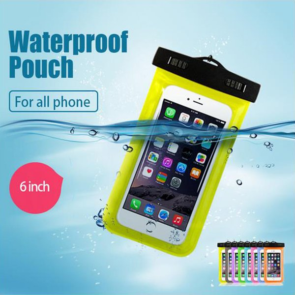 2018 New Transparent Waterproof Phone Case Anti-Water Pouch PVC Protective Dry Bag Cover for iPhone 7/6s Samsung S8 S7 S6 edge Mobile Phone