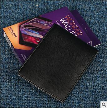 New Wonder Wallet Amazing Slim RFID Wallets Black Genuine Leather 24Card Casual Plain Traveling With Retail Package CCA5668 50pcs