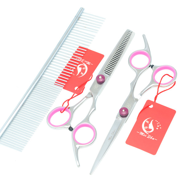 6.0Inch Meisha Cheap New Professional Grooming Scissors Set Pet Scissors Cutting & Thinning & Curved Dog Shears Grooming Puppy Kits ,HB0015