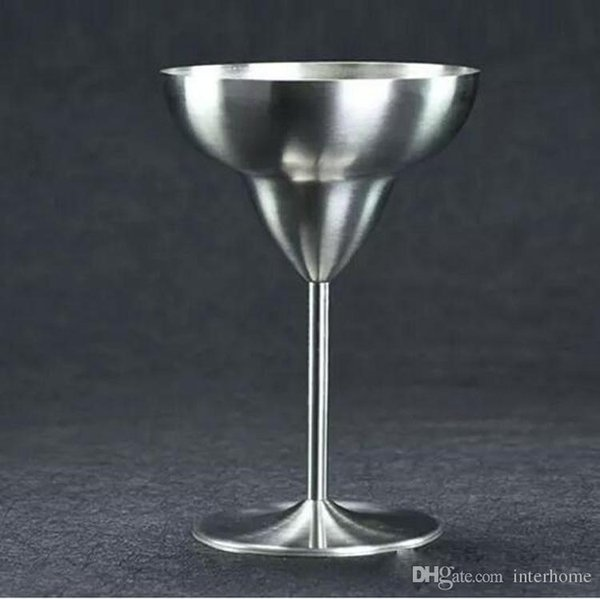 2017 Stainless Steel Cocktail Drinking Cups Wine Cup Champagne Wedding glass Martini Cup whiskey Goblet Cocktail