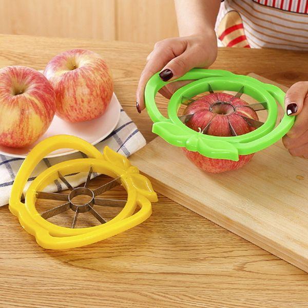 Apple Slicer Easy Cut Fruit Knife Cutters Kitchen Gadgets Corer Slicers Cutter for Apples Pear Tool Vegetable Dining Divider Accessories