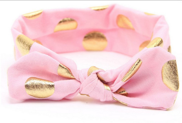 Hot Sell Sweet Girls Hairbands 12 Colors Baby Dots Bow High Quality Hairband Korean Style Kids Acccessories Fashion Girls Hairbands 170225