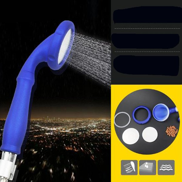 top popular Hot sell Anion Korea nanometer filtration water purification shower head ABS Handheld Shower pressurized shower nozzle 4 colors 2019