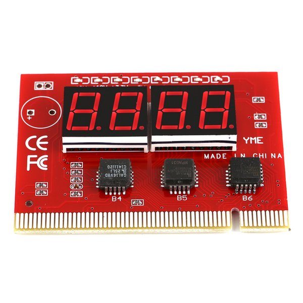 Freeshipping 5pcs/lot Computer Motherboard LED 4 Digit Analysis Diagnostic Test POST Card PCI High Quality