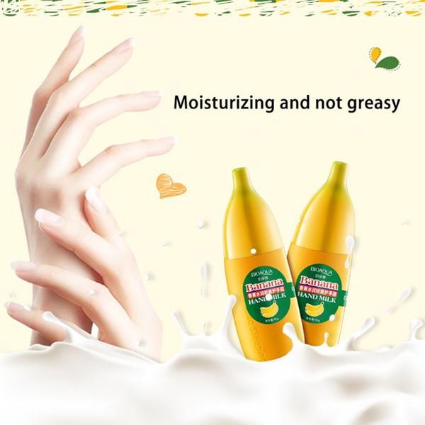 Wholesale- 40g BIOAQUA Banana Mi Hand Cream Moisturizing Nourish Anti-chapping Hand Care Lotions Handcream Skin Defender TF free shipping