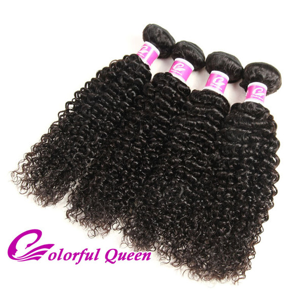 Peruvian Virgin Afro Kinky Curly Hair Bundles 4 Pcs Unprocessed Human Hair Weave Cheap Peruvian Curly Hair Extensions For Black Women