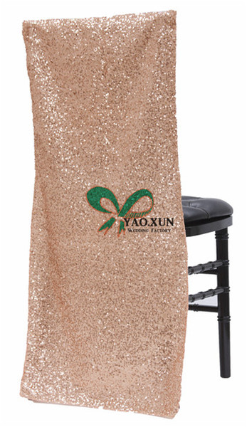 Cheap Price Sequin Chiavari Chair Cap \ Chair Jacket Cover For Wedding Decoration
