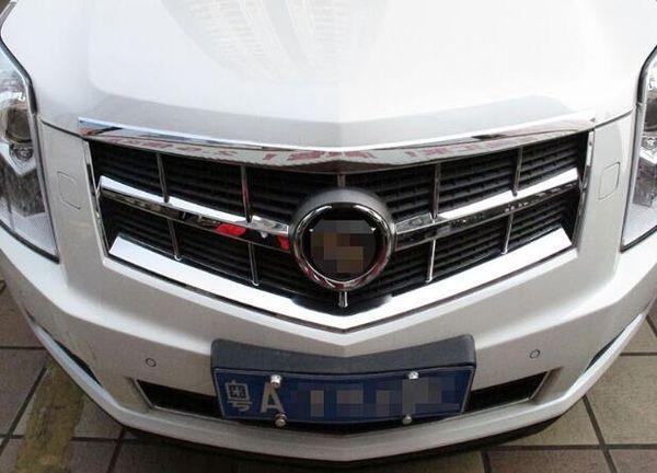 Ajuste de la decoración de la parrilla del coche del cromo 2pcs ABS de la alta calidad, barra de la protección para Cadillac SRX 2010-2012