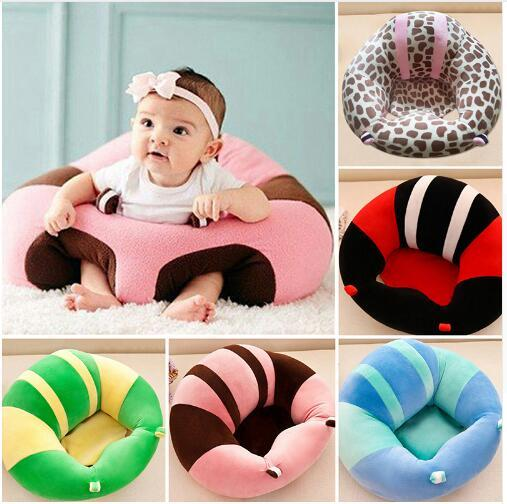 Baby Support Seat Plush Soft Baby Sofa Infant Learning To Sit Chair Keep Sitting Posture Comfortable For Newborn Infant Baby Christmas Gifts