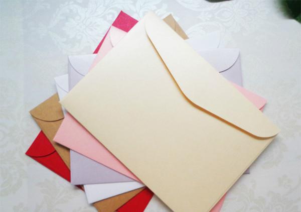 Compre Al Por Mayor 135x185mm Invitación De Negocios Sobres De La Tarjeta En Blanco Envolvente De Alto Grado Juegos De Tarjetas Gruesas Sobre Para
