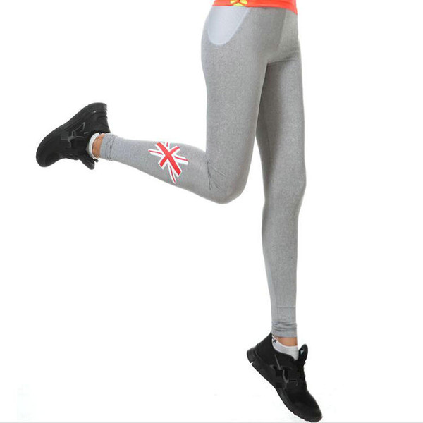 Union Jack pants Wicking tight Air permeability Women gym clothing Flag sport wear Hot training sportwear Exercise trousers