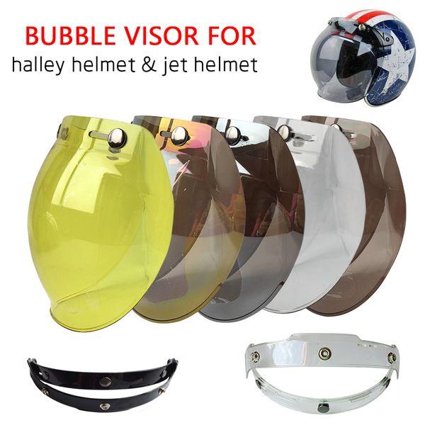 top popular Hot Sales Bubble Motorcycle Helmet Visor Jet Retro Hallar Casco Mask Vintage Helmet Bubble Visor Lens Helmet Accessories BV01 2021
