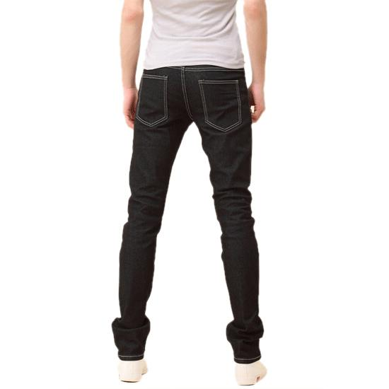 Wholesale- TKOH New Mens Stylish Candy Pants Casual Skinny Slim Elasticity Pants Jeans Trousers(Black) - 29