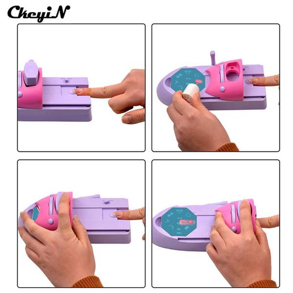 Wholesale- CkeyiN 1 Set Professional Nail Art DIY Pattern Printing Manicure Machine Stamp Stamper Tool Colors Drawing Polish Nail Printer