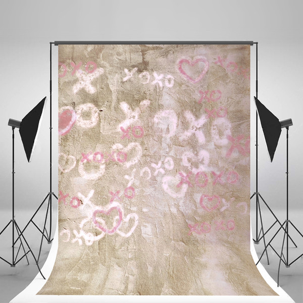 Gray Graffiti wall Photography Backgrounds Letters Wrinkles Free Seamless Material for Children Photographic Backdrop