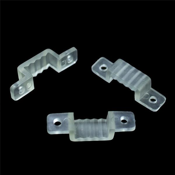 100 stücke 10mm led befestigung silikon montage clips für 220 v 5050 2835 wasserdichte led streifen licht stecker für 220 v led band