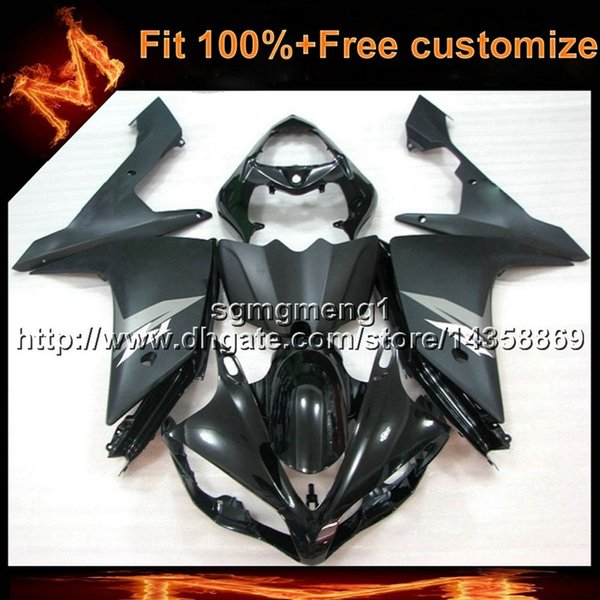 23colors+8Gifts Injection mold BLACK motorcycle cover for Yamaha YZF-R1 2007-2008 07 08 YZFR1 aftermarket Plastic Fairing