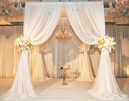 Eight Years Experiences China Manufacturer Ceiling Pipe And Drape Fabric Church Decoration Wedding Backdrop With Different Colors Diy Wedding