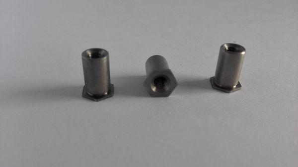 SOS-3.5M3 Blind hole pressure riveting stud Hexagon blind nut column Zinc, nickel,ecru A large number of inventory