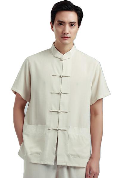 Shanghai Story traditional chinese clothing for men tai chi shirt male chinese ethnic clothing tangzhuang Top Kungfu Shirt Man