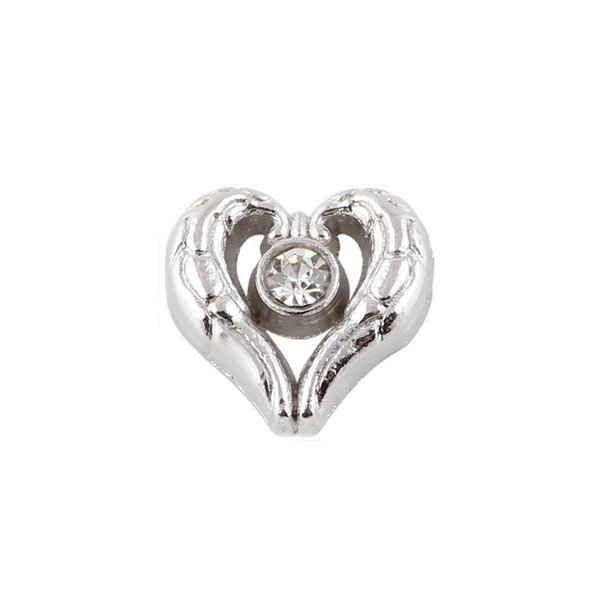 20pcs/lot free shipping good quality new type alloy rhinestone heart floating charms for glass living memory lockets