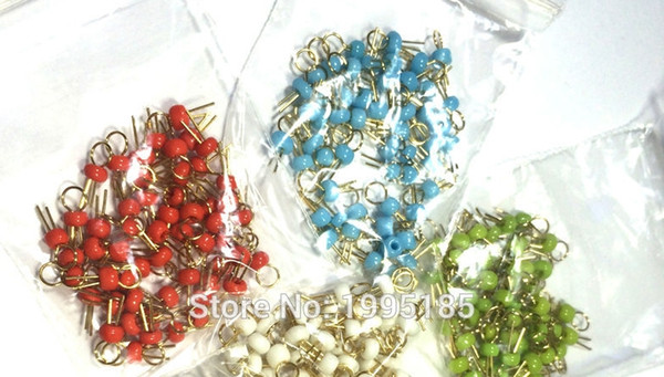 Six colors PCB board test points gold plated ceramic test loop / circuit board test pin
