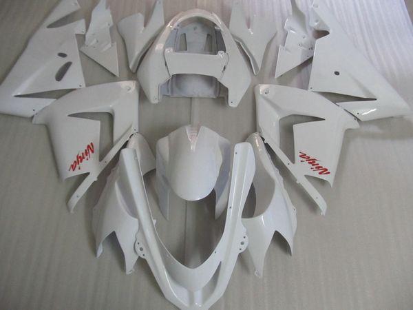 Kit carene moto per prezzo più basso per Kawasaki ninja ZX10R 2004 2005 set carene bianche ZX10R 04 05 IT42