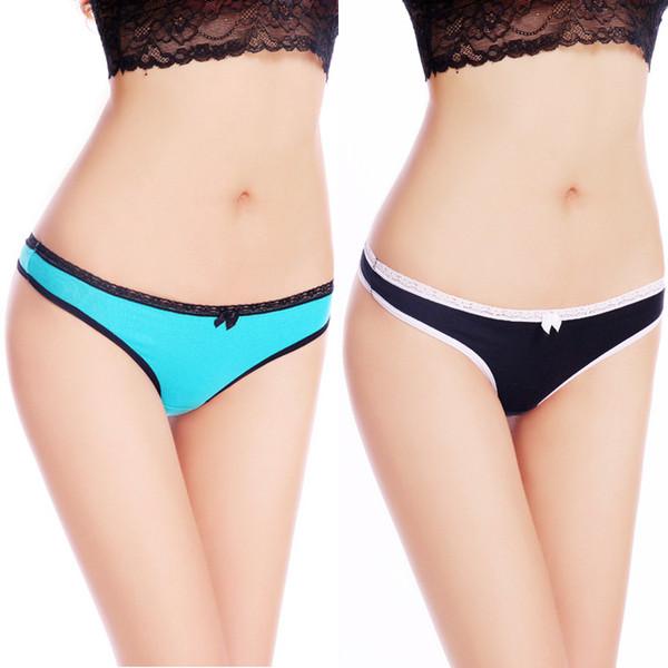 (MOQ 12pcs) Yun Meng Ni Sexy Underwear Sexy Tangas para mujeres de algodón respirable de las mujeres bragas mujeres tangas