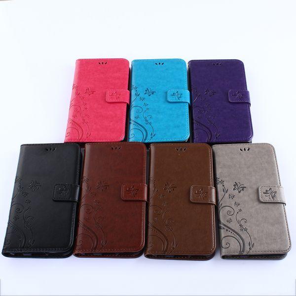 Etui en cuir de luxe pour iPhone 7 7PLUS Flip Coque 3D Fleur + Coque arrière en silicone pour iPhone6 6 S 6s Plus 6 Plus Capinha Wallet Stand