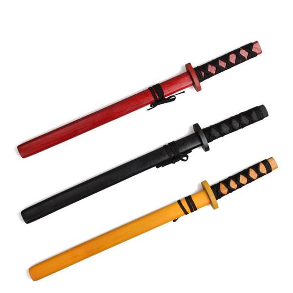 Novelty Wooden Swords Dongyang Paint Trumpet Katana Sword Novel Scenic Spot Penknife Stall Japanese Samurai Kendo Hot Sale 3 95cl KK