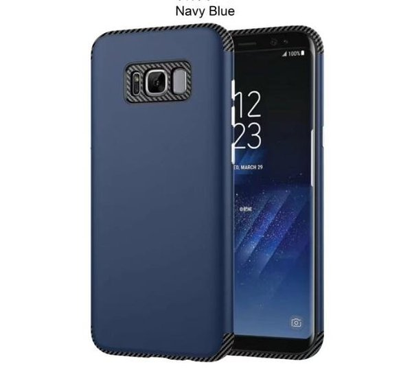 New Hybrid 2 in 1 Carbon fiber Silicone Rubber Hard Plastic cover case For Samsung Galaxy S8 Plus A3 A5 A7 2017 J3 J5 J7 Prime 1pcs