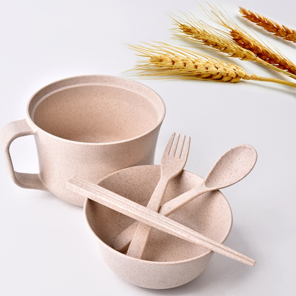 Eco-Friendly Dinnerware Unbreakable Wheat Tableware RL202M Wheat Cup Bowl Wheat Straw Bowls Student Instant & Eco Friendly Dinnerware Unbreakable Wheat Tableware Rl202m Wheat Cup ...