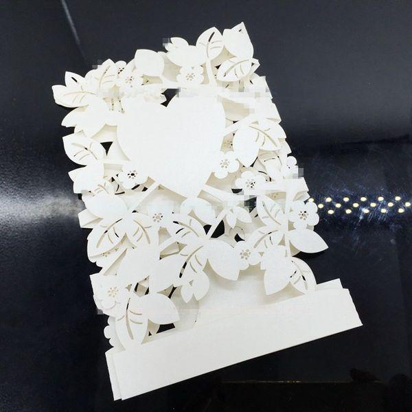 Favor de casamento favor de partido Cartão de Convite de Casamento Corte A Laser Oco Árvore de Amor em Branco Com Envelope Convites de Casamento Cartões