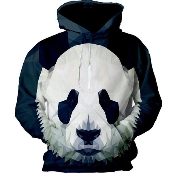 Al por mayor-panda para hombre sudaderas con capucha-2017 impresión 3D nuevo diseño hombre chándal sudadera con capucha sudadera cuello redondo suéter S-5XL