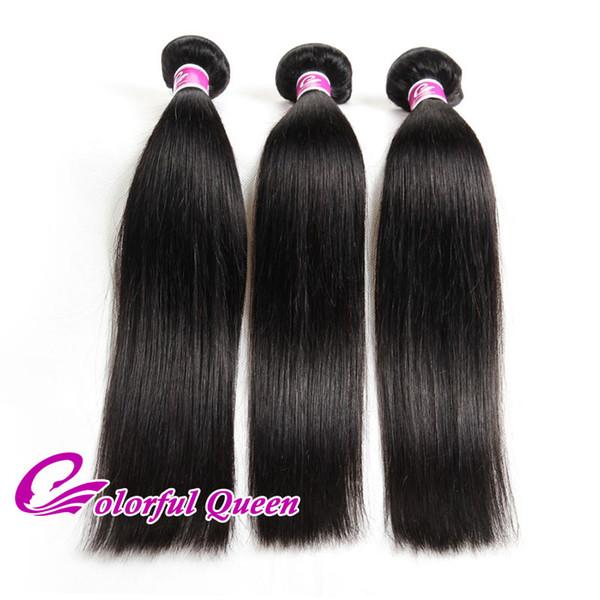 Straight Indian Virgin Hair 3 Pcs lot 7A Grade Virgin Unprocessed Human Hair Weave Straight Cheap Raw Indian Hair Bundles Deals Wholesale