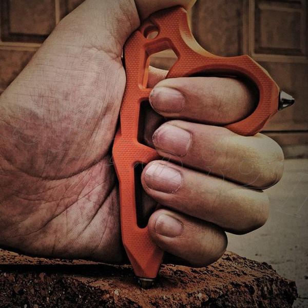 Perles en céramique de résine époxy G10 Hit Finger Knuck Duster Punch Tiger Finger CNC Usiné poids léger Durable Great Hande Feeling EDC Outils
