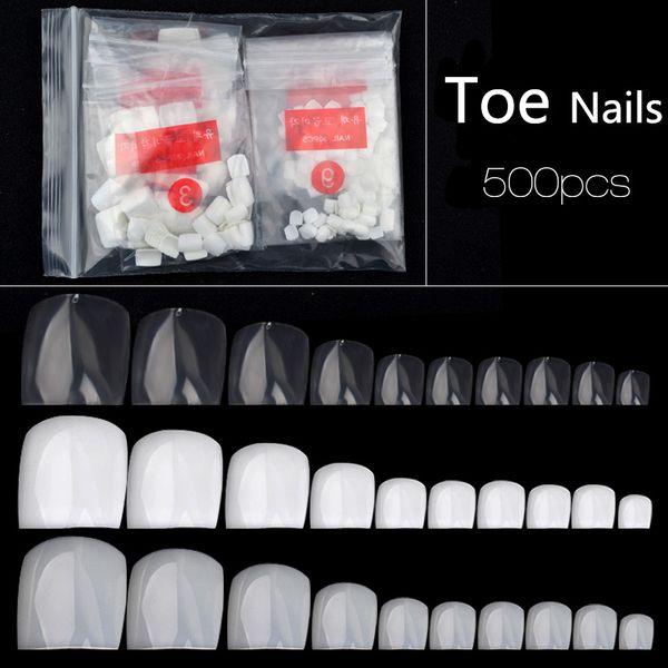 Nuovi punte per unghie finte per pedicure professionali Unghie finte per unghie Adesivi finti bianchi naturali trasparenti Copertura completa Regalo di bellezza 2017