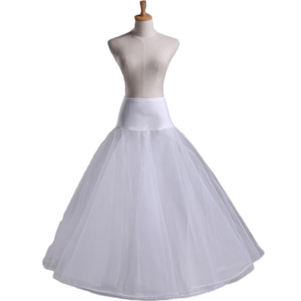 2017 Crinoline Enaguas Jupon Cerceau Mariage Petticoats For Wedding Dress Hoop Skirt Sottogonna Sposa Tulle Petticoats