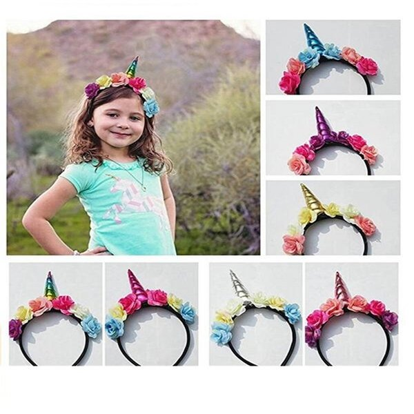 SONG LIN Kids Halloween Unicorn Headband Princess Unicorn Headdress  Christmas Party Hairstyle Hair DHL free delivery a2923247fea
