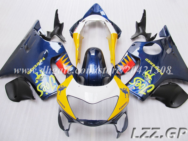 Blue yellow Fairings fit for Honda CBR600 F4 1999 2000 CBR600F4 99 00 CBR600RR 99-00 motorcycle injection Fairing kits #w82h33