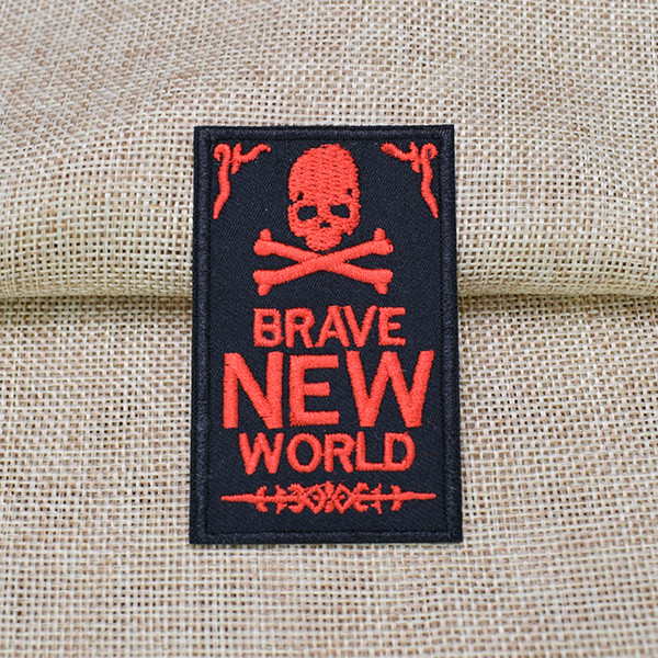Red X Black Skull M Embroidery Applique Patch Sew Iron Badge Iron On
