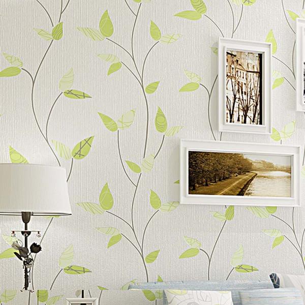 Waterproof PVC Wallpapers Green Leaf Wallpaper Design for Walls Modern 3D Wall Paper Flower For Bedroom Background Walls 10M/Roll