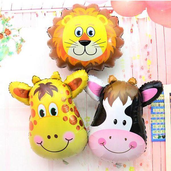 Giraffe Zebra Cow Monkey Birthday Party Balloon Animal Pet Foil Balloon for Children Toys, Wedding Party Birthday Decoration